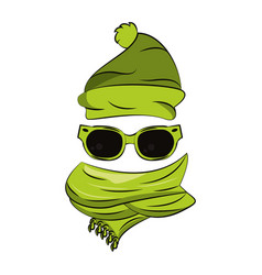winter fashion accesories vector image