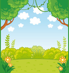 with green lines and trees vector image