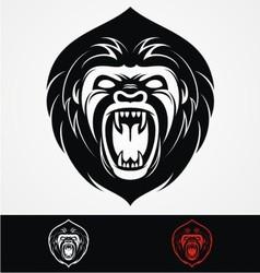 Angry Gorilla Head Mascot vector image vector image