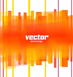 background with orange blurred lines vector image