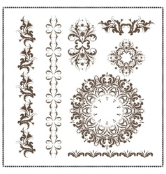 Beautiful calligraphic patterns vector image