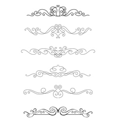 Borders and dividers vector image