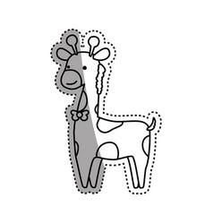 giraffe cartoon animal childish vector image vector image