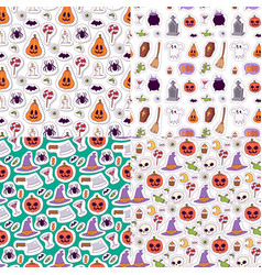 halloween carnival seamless pattern background vector image