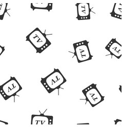 tv icon seamless pattern background business flat vector image vector image