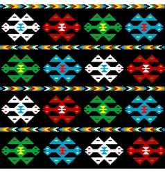 Background with ethnic texture vector image vector image