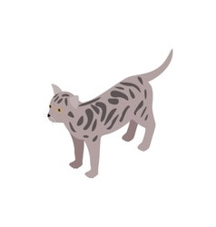 Bengal cat icon isometric 3d style vector image vector image