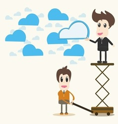 Cloud computing business concept vector image