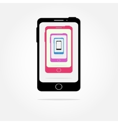 colorful Cell phone icons vector image vector image