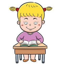 Girl reading vector image vector image