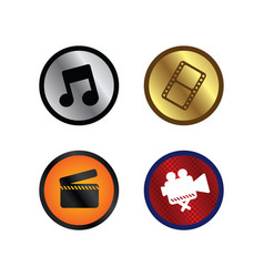 Glossy color website internet icon button theme vector