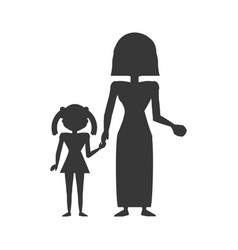 pictogram family people lifestyle vector image vector image