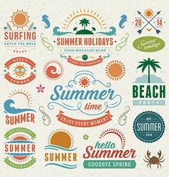 Retro summer design elements vector image vector image