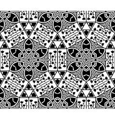 Seamless nature geometric pattern vector image