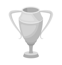 silver cupaward the winner of the competition for vector image