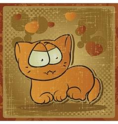 vintage cartoon car background vector image vector image