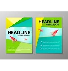 corporate brochure flyer design layout vector image