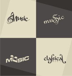 Music logo designs vector image vector image
