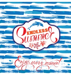 paint strip summer card 1 380 vector image