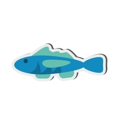 single fish icon vector image