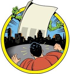 Superhero Vs Your Custom Message vector image vector image