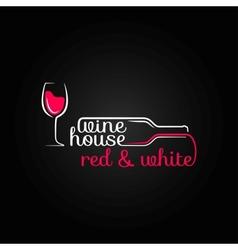 wine glass bottle house design background vector image vector image