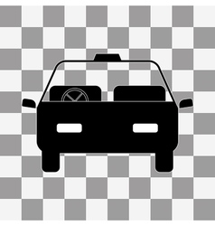 Car icon on a transparent vector image vector image