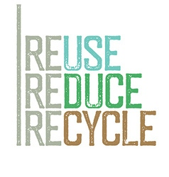 Reuse reduce recycle Stamp grunge letters vector image