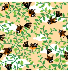 seamless with birds vector image