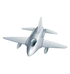 A gray fighter jet vector image