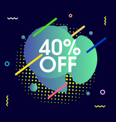 Abstract sale design vector