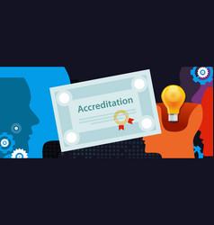 accreditation authorized organization business vector image