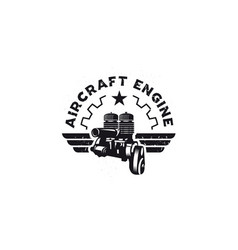 air craft engine vector image
