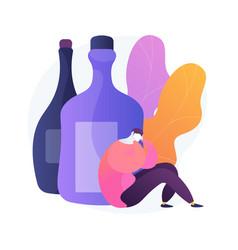 Alcoholism concept metaphor vector