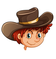 An image of a boy wearing a hat vector image