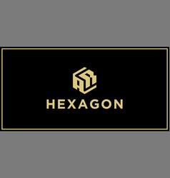 Ar hexagon logo vector