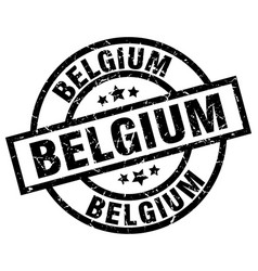 Belgium black round grunge stamp vector