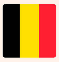 belgium square flag button social media vector image