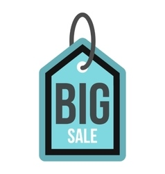 Big sale tag icon flat style vector image