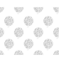 black tree seamless on white background vector image