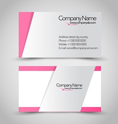 Business card set template Pink and grey color vector