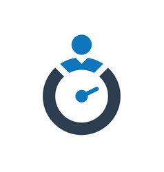 Business time management icon vector