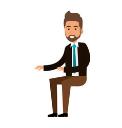 businessman doing seated pose vector image