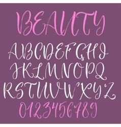 Calligraphic english alphabet vector