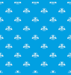 car battery pattern seamless blue vector image