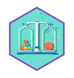chemical laboratory weight vector image