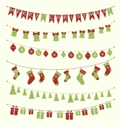 Christmas garlands set vector image