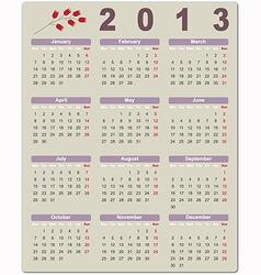 Colorful calendar for 2013 vector