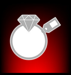 diamond with tag vector image