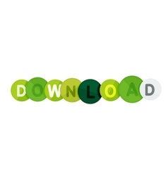 Download button made of glossy circles vector image